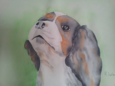 Dog Painting by Regina