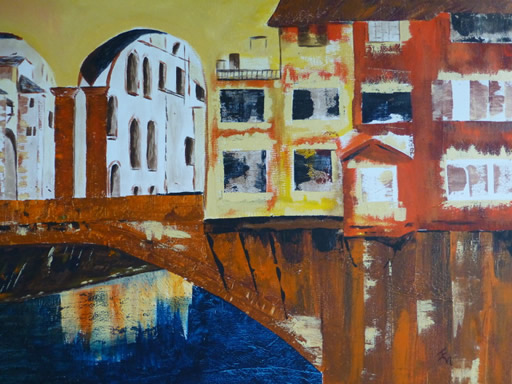 Florence - Cityscape - Painting by Jenny