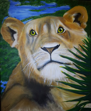 Lion Painting by Regina