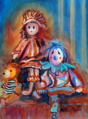 Acylic Painting - Dolls