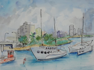Art - Painting - Boats