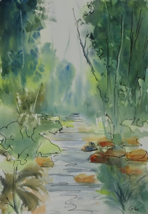 Art - Painting - Creek