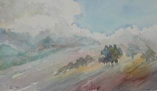 Art - Painting - Landscape - Haze
