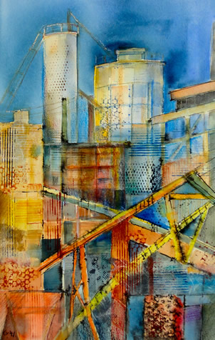 Art - Painting - City scape