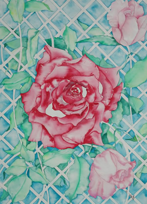 Art - Painting - Rose