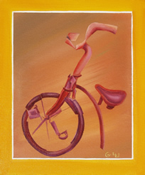 Bicycle - picture - painting by Giselle