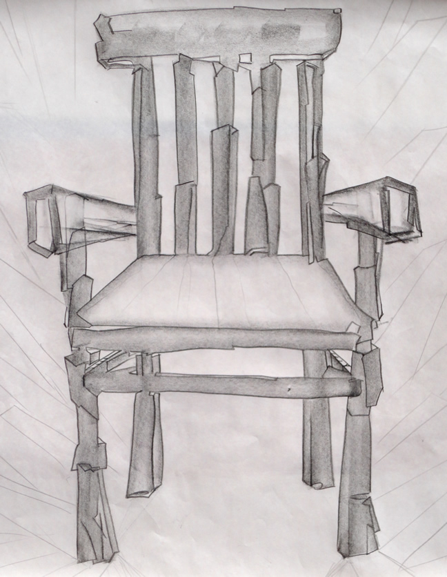 Large sketch of a Chair