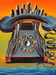 Phone Oracle - painting by Giselle