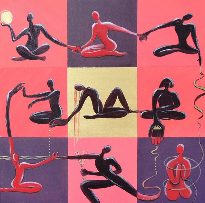 Yoga Studio Painting By Giselle
