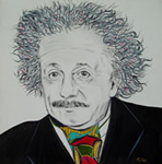 Einstein drawing by giselle