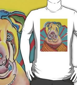 Beach Dog T-Shirt by Giselle - Artist