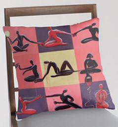 Art Shop - Yoga Pillow Cover