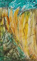 Abstract Mountain Range painting