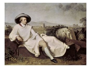 Painting of Goethe
