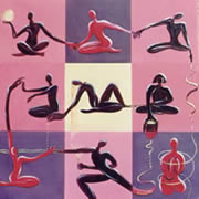Creative Yoga,  Painting by Giselle