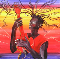 Guitar man - Painting by Giselle