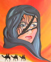 Desert Queen Mirage - Painting by Giselle - Canungra