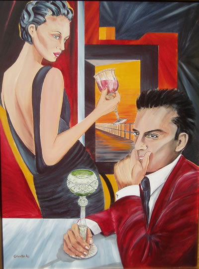 Couple Therapy - Acrylic Painting by Giselle