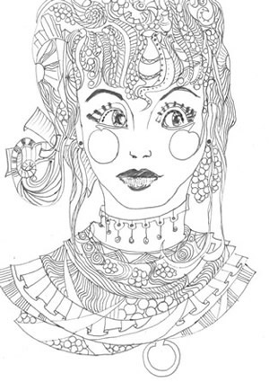 Online coloring pages Coloring page Carly coloring, Coloring pages ...   425x300