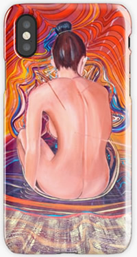 Acupuncture Energy - Iphone Skin design by Giselle art studio