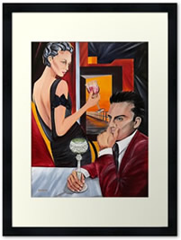 Couple Therapy - Framed - Painting by Giselle