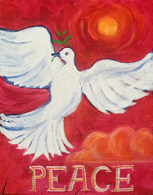 Peace - Please ... Painting by Giselle