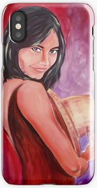 Pretty Girl Phone case - painting by Giselle