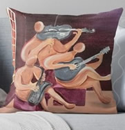 Jazz Trio Pillow