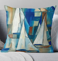 Sailing Boat Pillow