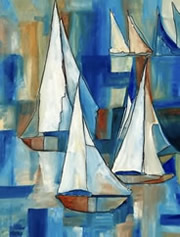 Sailing Boats - abstruct - by Giselle