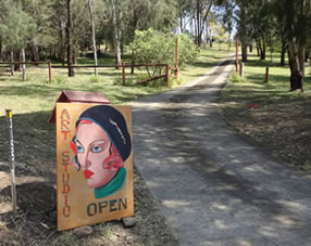 Artist Studio Open Sign