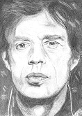 Mick Jagger,  picture - pencil drawing