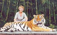 Pet Tiger and Yvonne
