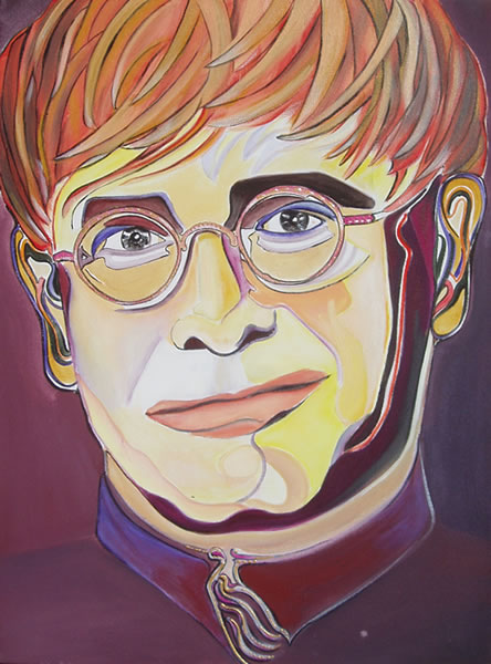 Sir Elton John - Portrait by Giselle