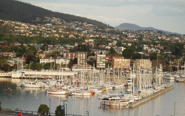 View to Hobart